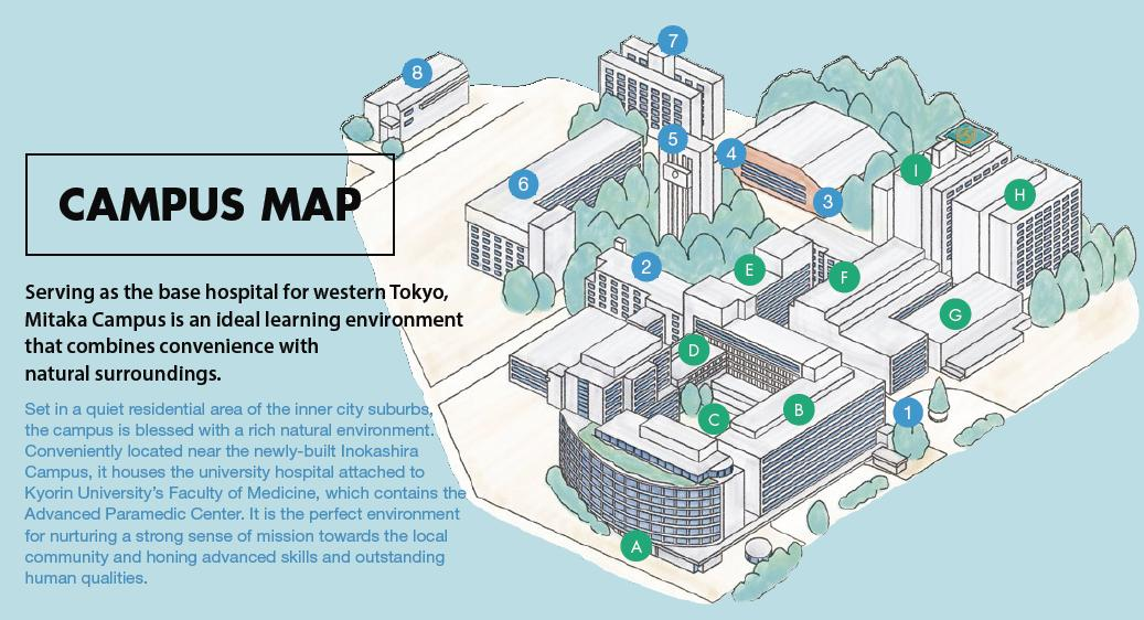 University Hospital Main Campus Map.Kyorin University Campus Map