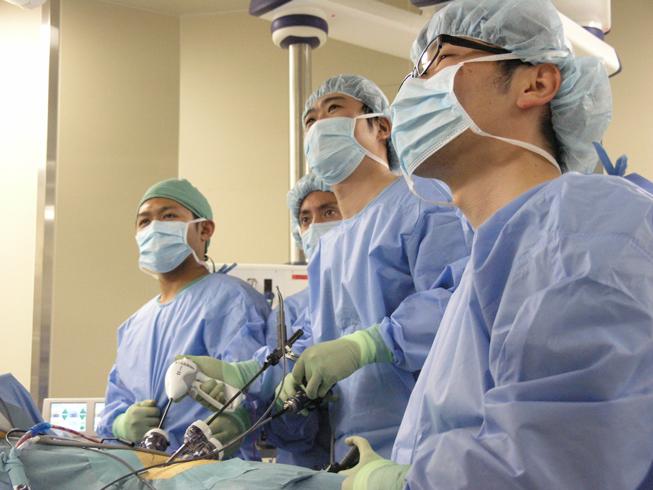 腹腔鏡手術風景2